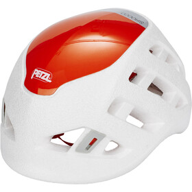 Petzl Sirocco Casco da arrampicata, white/orange